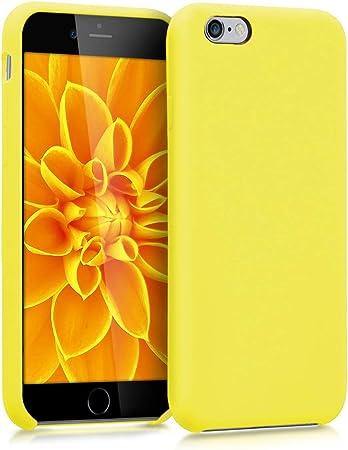 Kwmobile Hülle Kompatibel Mit Apple Iphone 6 6s Handyhülle Gummiert Handy Case In Neon Gelb Elektronik