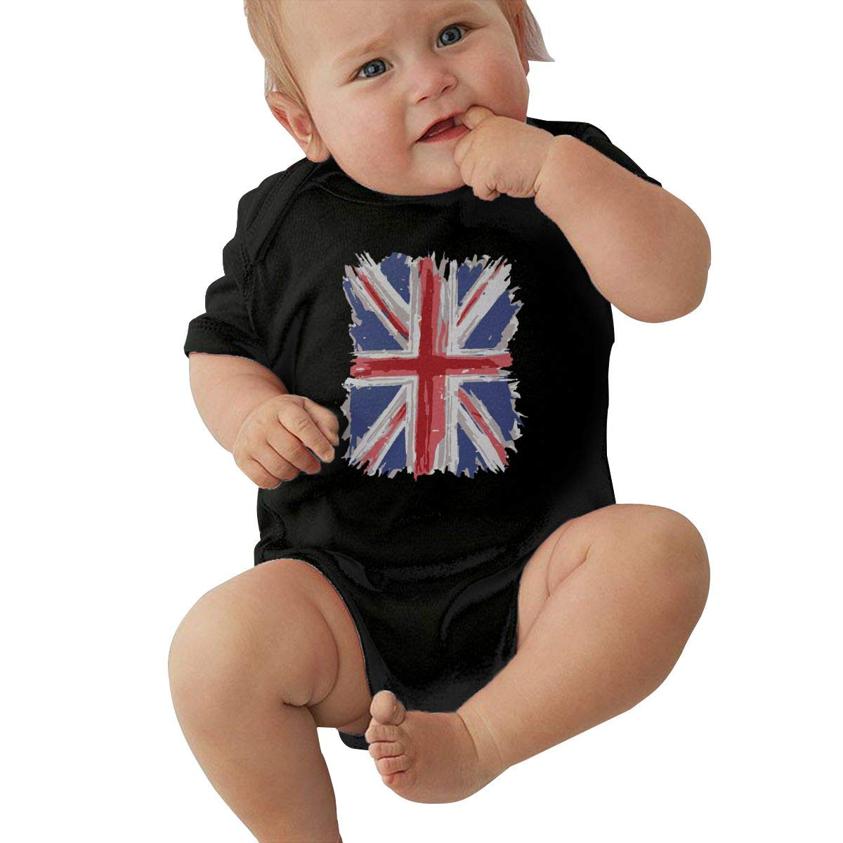 LBJQ9 Great Britain Flag Toddler Baby Girls Soft /& Breathable Short Sleeve Romper Jumpsuit Outfits Clothes