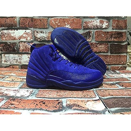 8097f35f3e49 Mens 12 XII Retro Premium AJ12 Basketball Shoes Deep Royal Blue 130690-400  Suede low