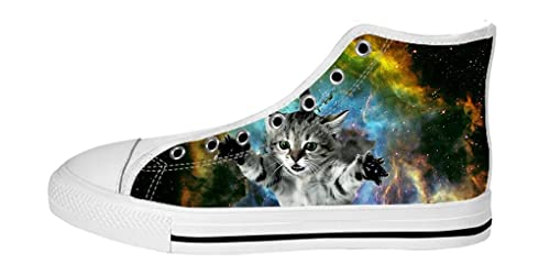 Galaxy Dalliy Top High Zapatos Lienzo Cat Mujeres Calzado De QrhdxtsC