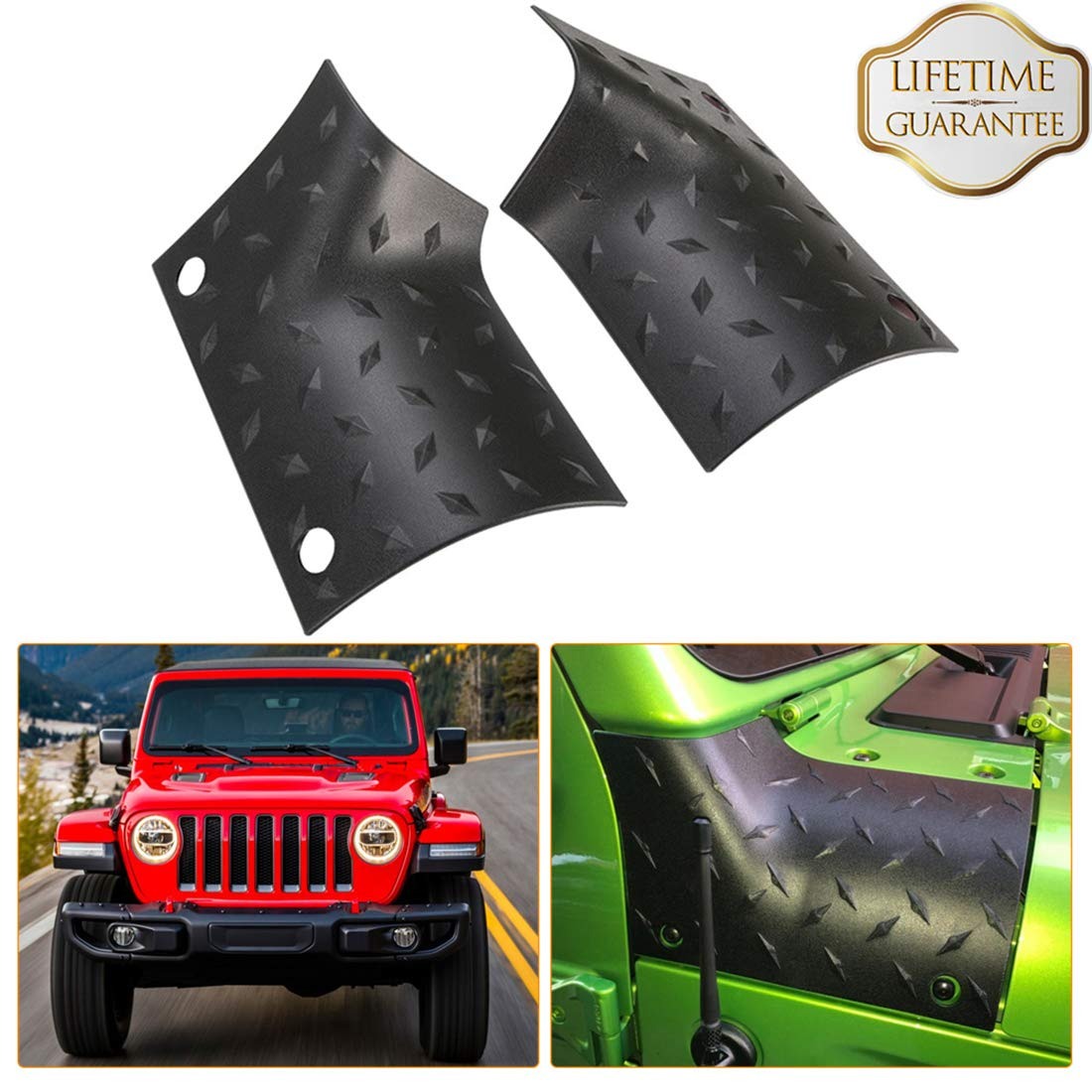 Danti Black Cowl Body Armor Outer Cowling Cover for Jeep Wrangler JK JKU Unlimited Rubicon Sahara X Off Road Sport 2007-2018