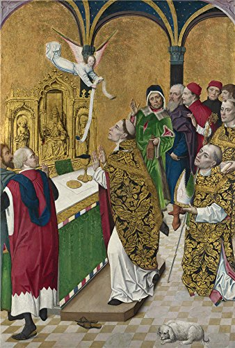 'Workshop Of The Master Of The Life Of The Virgin The Mass Of Saint Hubert Right Hand Shutter ' Oil Painting, 30 X 44 Inch / 76 X 113 Cm ,printed On Perfect Effect Canvas ,this Beautiful Art Decorative Prints On Canvas Is Perfectly Suitalbe For Bathroom Artwork And Home Decoration And Gifts ()