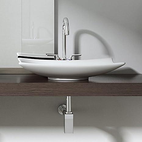 BTH: 60x40x9 Cm Design Aufsatzwaschbecken Brüssel5096, Aus Keramik ...