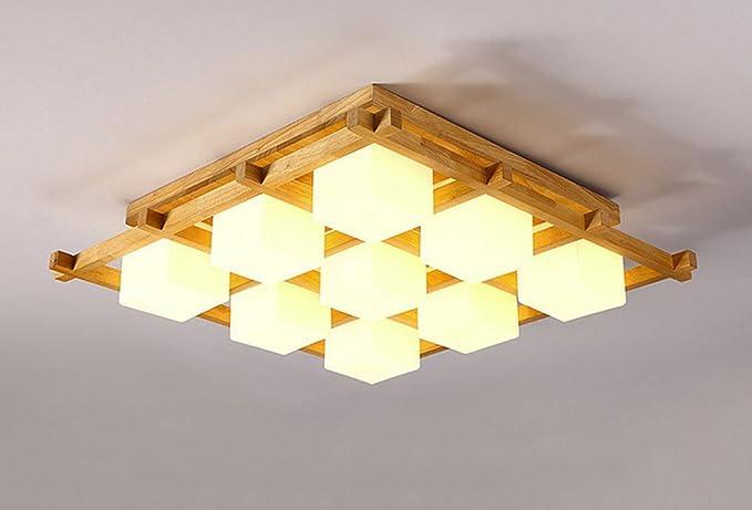 Plafoniere Per Tetto In Legno : Hjhy plafoniera in stile cinese soggiorno led wood ceiling luce
