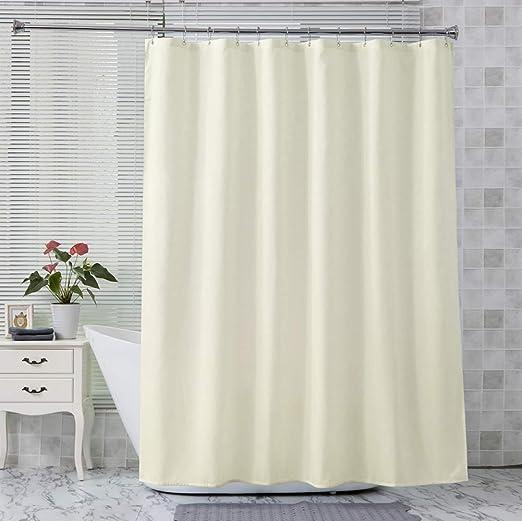 Amazon Com Amazer Fabric Shower Curtain Liner Ivory Polyester
