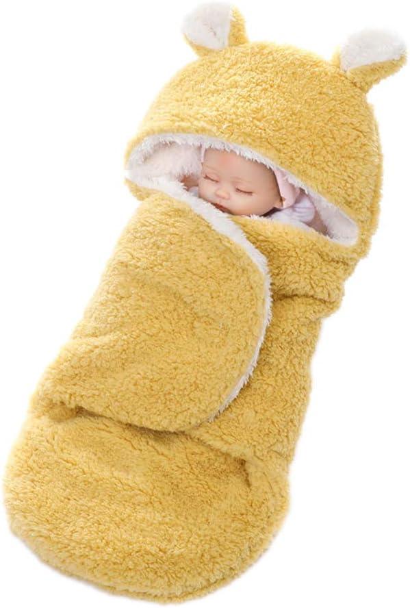 YeahiBaby Mantitas de Arrullo para Bebé Recién Nacido para Cochecito de Bebé Manta Suave y Cálida para Niños y Niñas de 0 a 12 meses (Amarillo): Amazon.es: Bebé