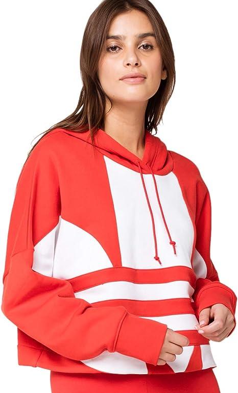 adidas Originals Damen Large Logo Cropped Hoodie Sweatshirt