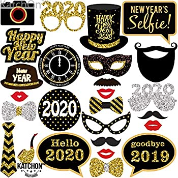 Amazon.com: 2020 New Years Photo Booth Props Kit(50pcs ...