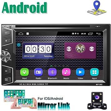 Android 2 DIN Radio Coche Reproductor de CD DVD Navegación GPS ...