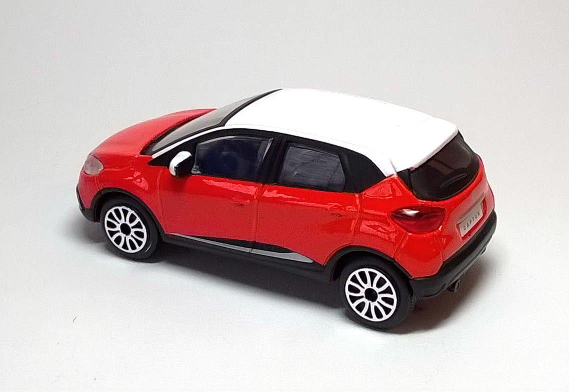 - Model Scale 1//43 RENAULT CAPTUR Orange//White Burago
