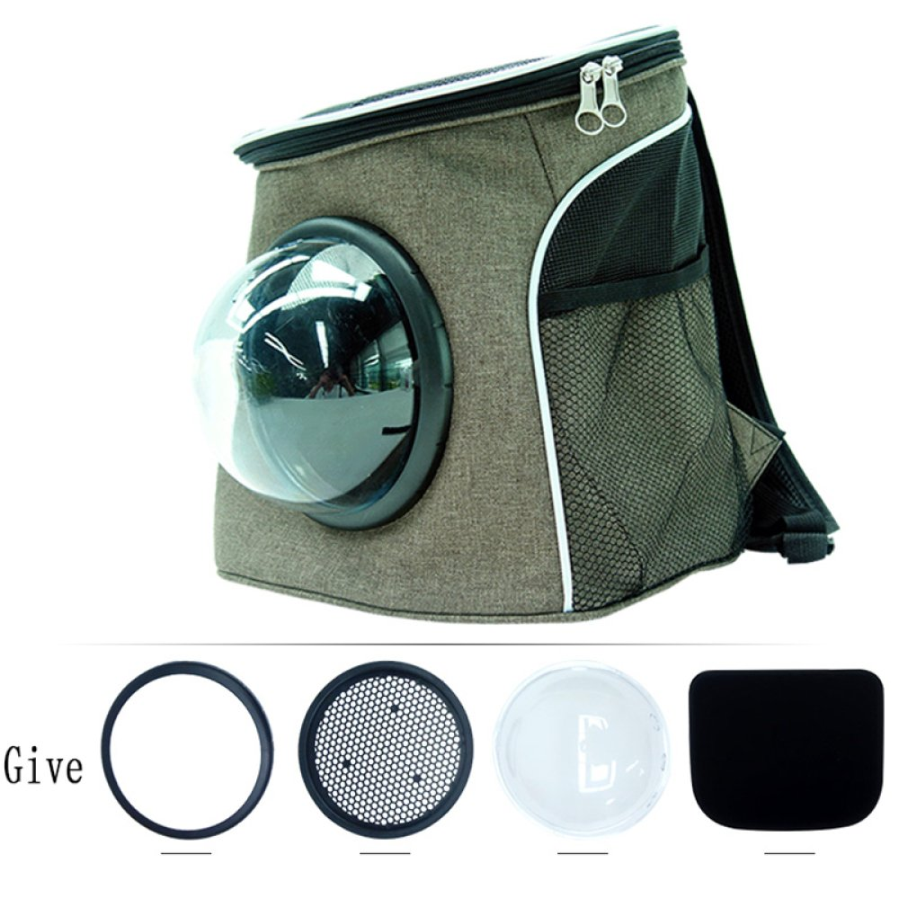 Khaki M Khaki M BAIXX WLQ Pet Cat Bag Cat Backpack Capsule Cat Cages Out Backpack Outsourcing Kit