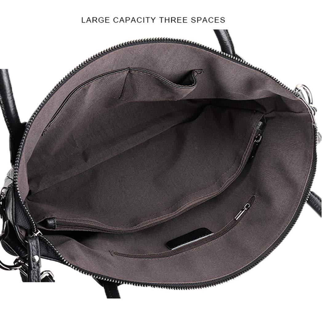 Läderväska kvinnors stor kapacitet läder arbete bärbar dragkedja axelväska bärbar diagonal väska dam axelväska Vinröd
