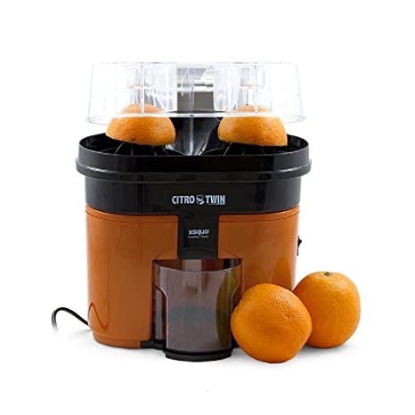 Top SHOP Citro Twin Licuadora Exprimidor Extractor de zumo 500 ml Color Naranja