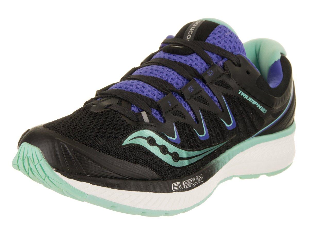 Saucony Women's Triumph Iso 4 Running Shoe B078PNMJZS 11 B(M) US|Black/Aqua/Violet