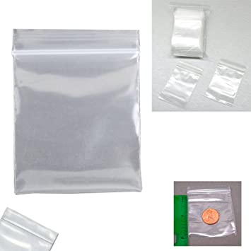 """5/"""" x 6/"""" Small Reclosable Resealable Clear Zip Lock Plastic Bags 2 Mil 2000 Count"""