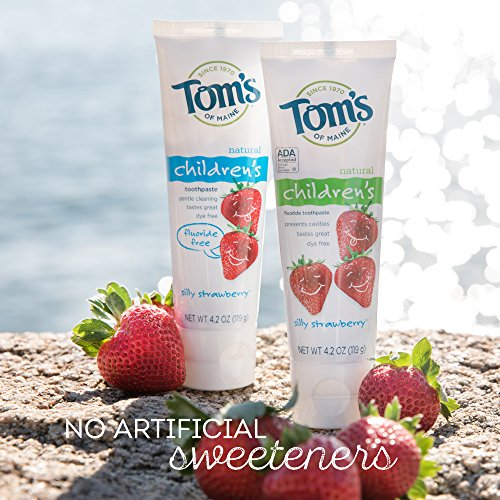 Tom's of Maine Anticavity Fluoride Children's Toothpaste, Silly Strawberry, 4.2 Ounce, 3 Count by Tom's of Maine (Image #2)