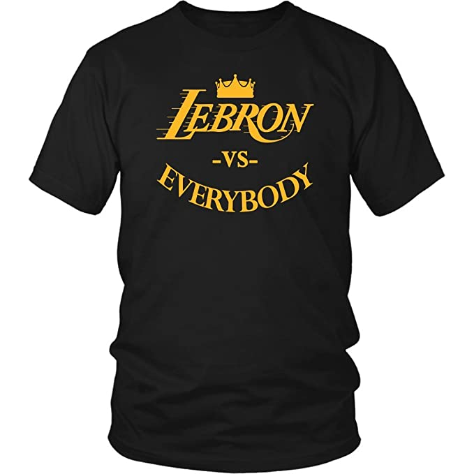 Amazon Com Lebron Vs Everybody Los Angeles Basketball Shirt Clothing