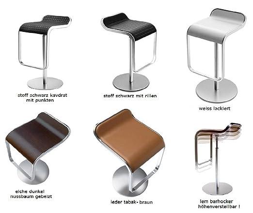 lapalma - La palma lem taburete lem altura de asiento: 66-79 cm laminado millerighe abet 877 aluminio la palma: Amazon.es: Hogar