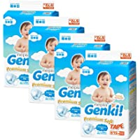 Nepia Genki Premium Soft Tape S72, S, 288 count (Pack of 4)