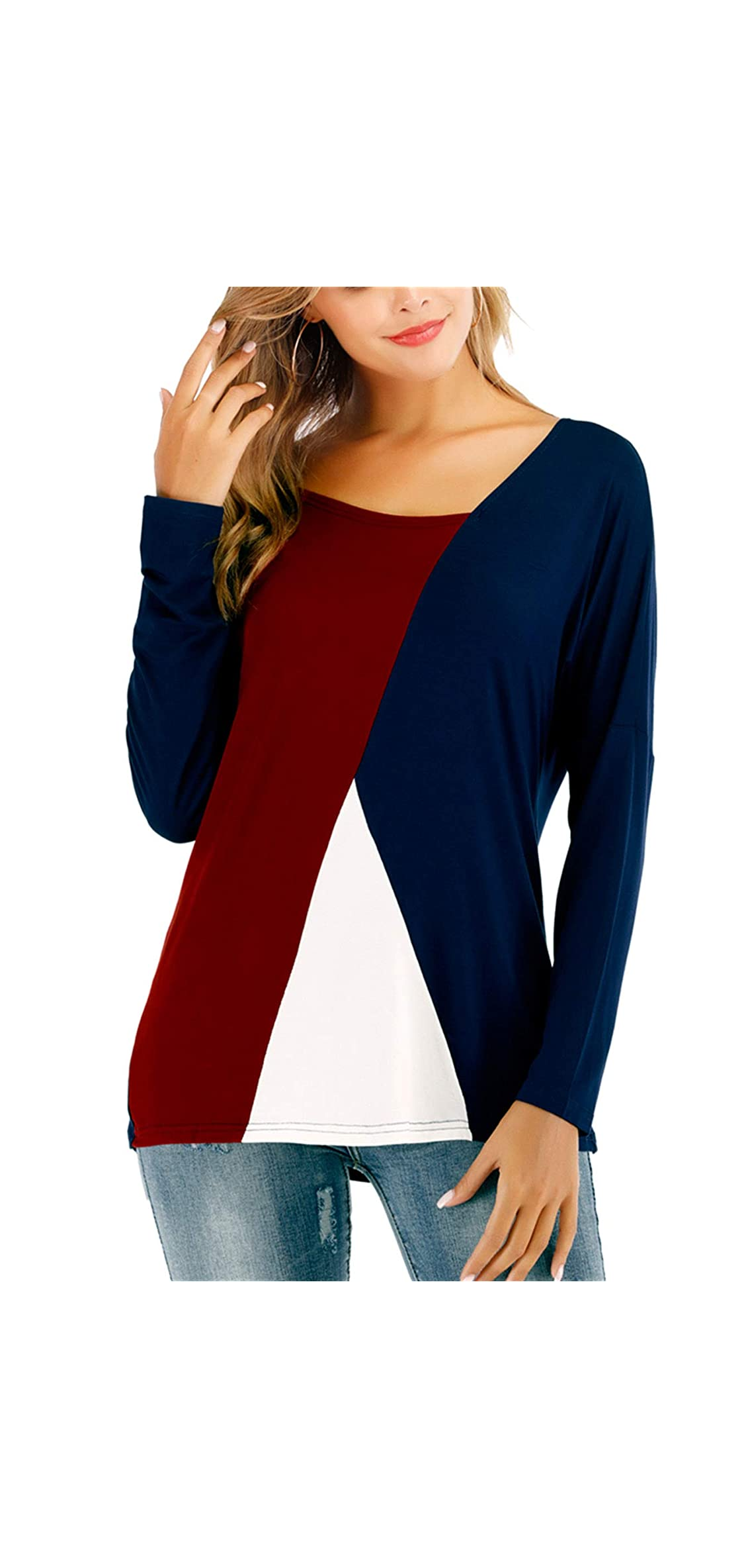 Women's Long Sleeve Modal Shirts For Work Casual Tee Shirts Fits