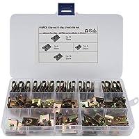 Roestvrijstalen clipmoeren, Asudaro 110 stuks metalen U-moeren, autodeurbekledingsschroef U-type bevestigingsklem voor…