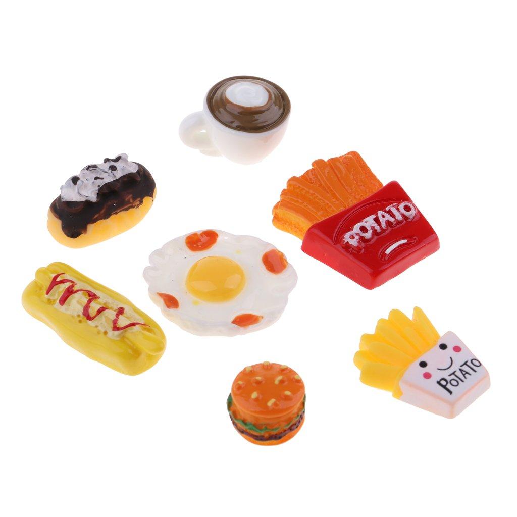 KESOTO Modelo Alimento de Pastel Papas a Francesa Hamburguesa para Dollhouse 1//12