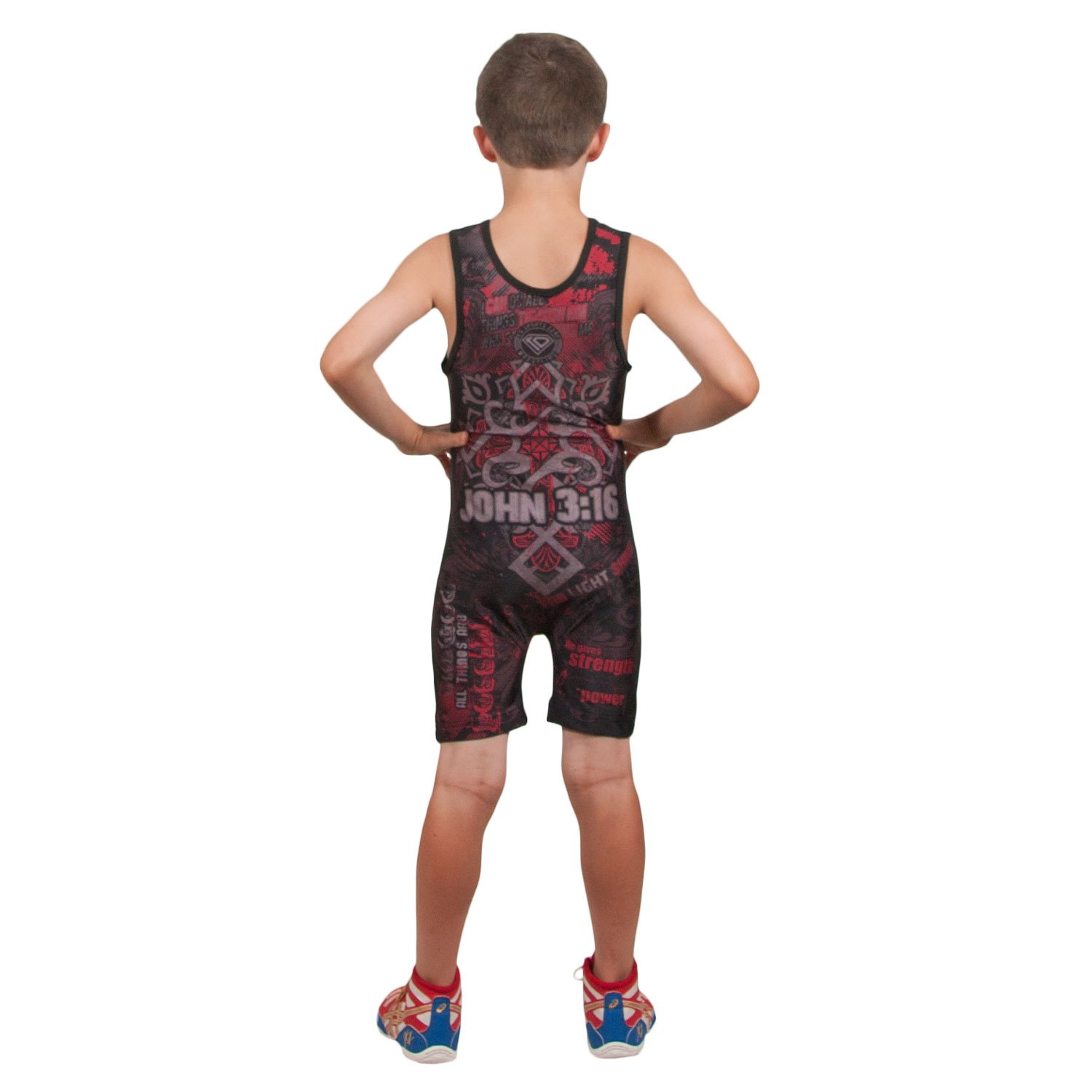 KO Sports Gear Wrestling Singlet by Religious Lion - Fun, Affordable, Head Turning (Adult M : 110-140 lbs) by KO Sports Gear