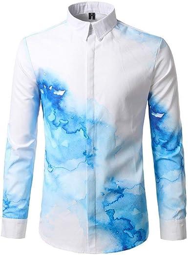 Camisa De Hombre Casual Slim Fit De Blusas Oficina Botón ...