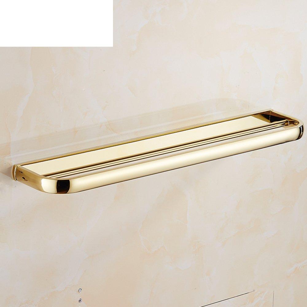 60 Off Gold Plated Copper Bathroom Hardware Accessories European Gold Towel Rack Towel Shelf