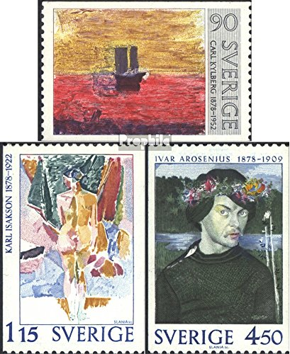 - Sweden 1034-1036 (Complete.Issue.) 1978 Significant Sweden (Stamps for Collectors) Painting