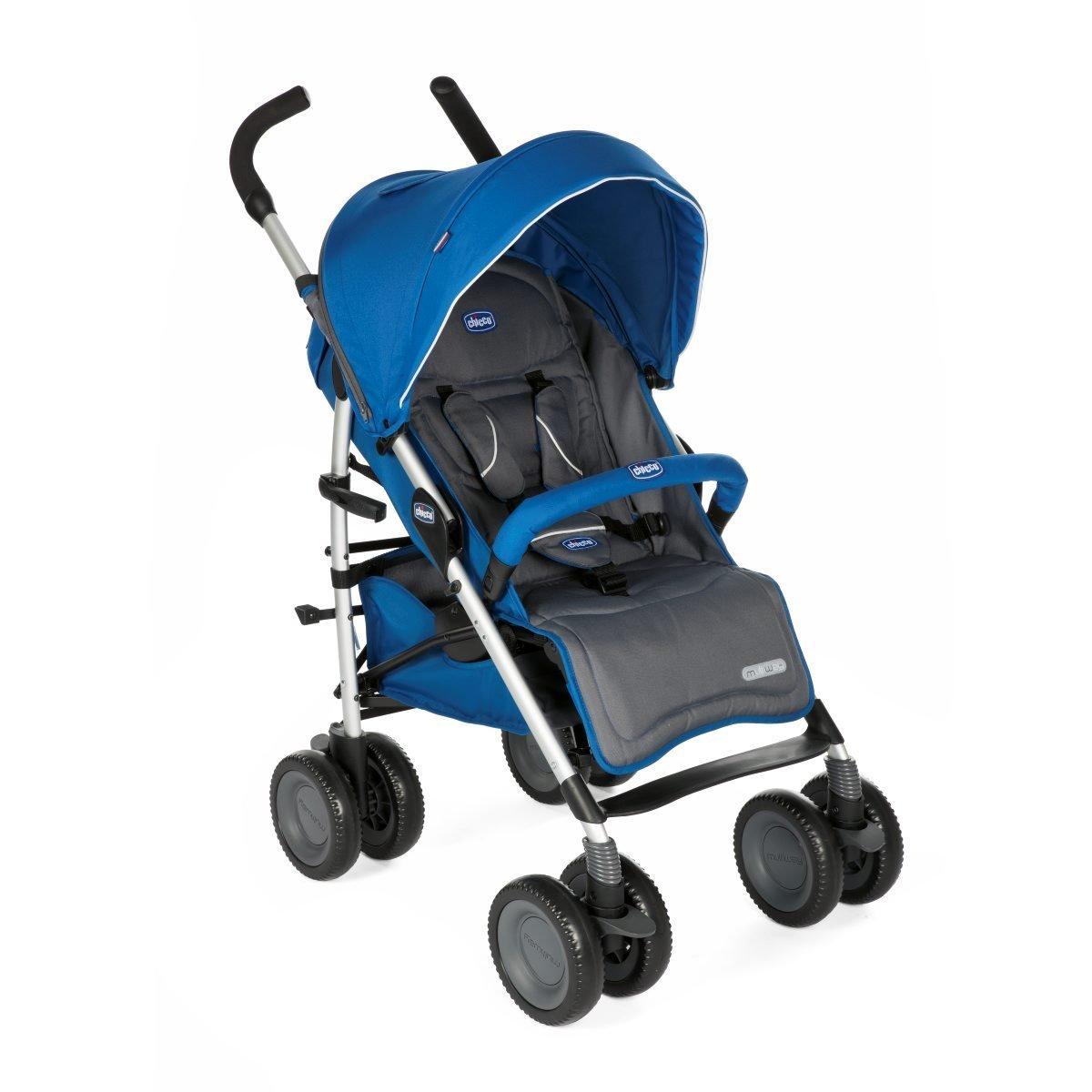 Chicco MultiWay2 - Silla de paseo todoterreno con ruedas grandes y suspensión, color azul Artsana 6079428800000