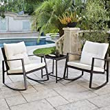 SOLAURA Outdoor Furniture 3-Piece Rocking Bistro