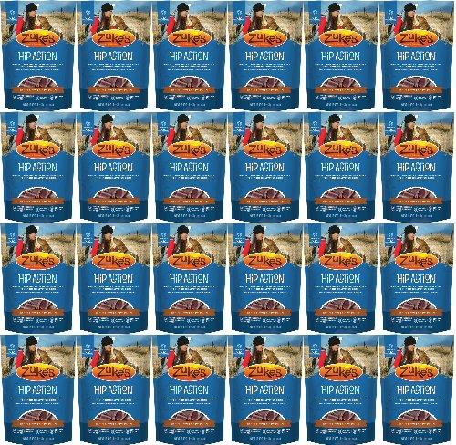 Zukes Hip Action Glucosamine & Chondroitin Peanut Butter 24lb (24x1lb) by Zuke's