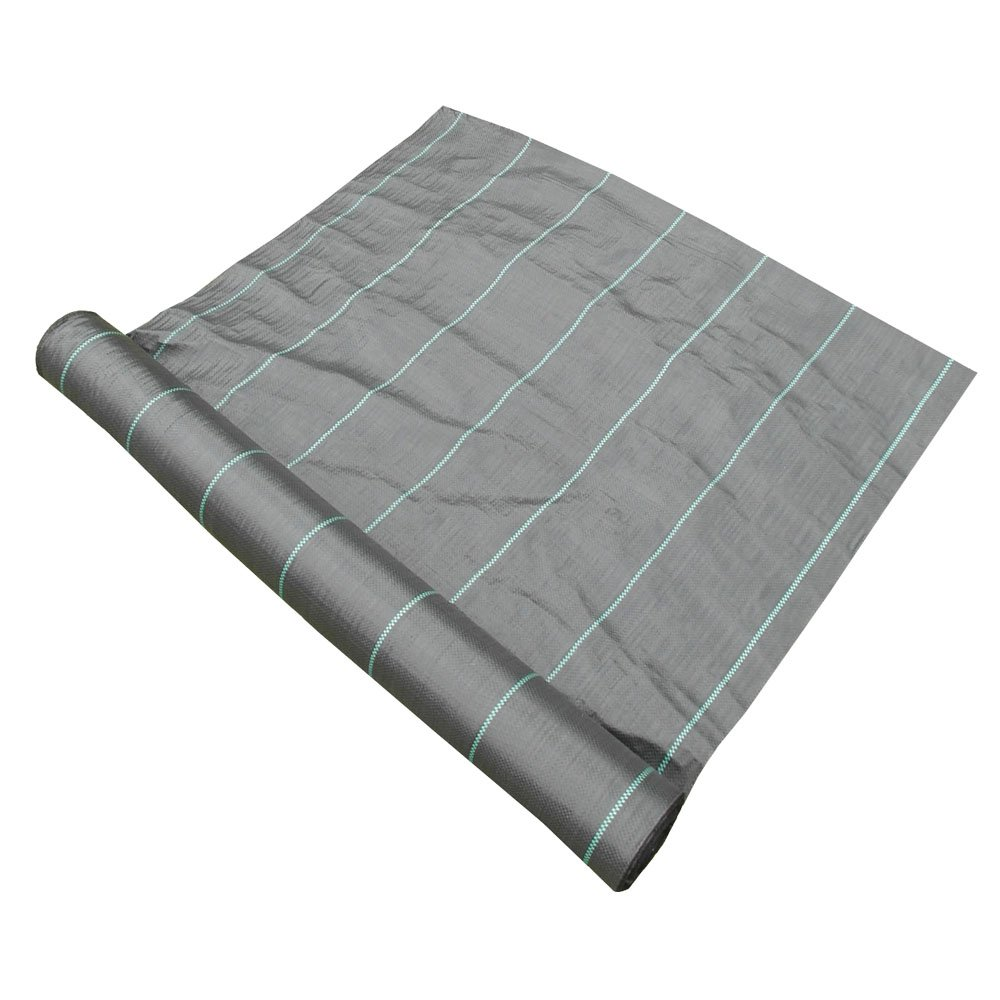 2m x 50m (Folded) Roll 100gsm Ground Cover Weed Control Fabric Membrane Landscape (a583) na