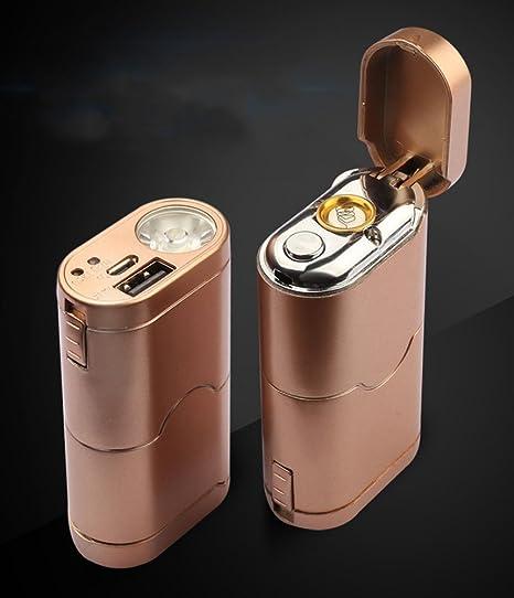cjoy 3 en 1 USB recargable electrónico Mechero/Linterna Led Torch ...