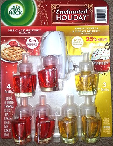 Air Wick Scented Oil Refills Mrs.Claus Apple Pie, Frosted Vanilla with Cupcake Delight Fragrances (Air Wick Scented Oil Refills compare prices)