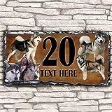 Custom Alaskan Malamute Dog House Slate Personalised Pet Name Number Sign - 30cm x 15cm by Krafty Gifts