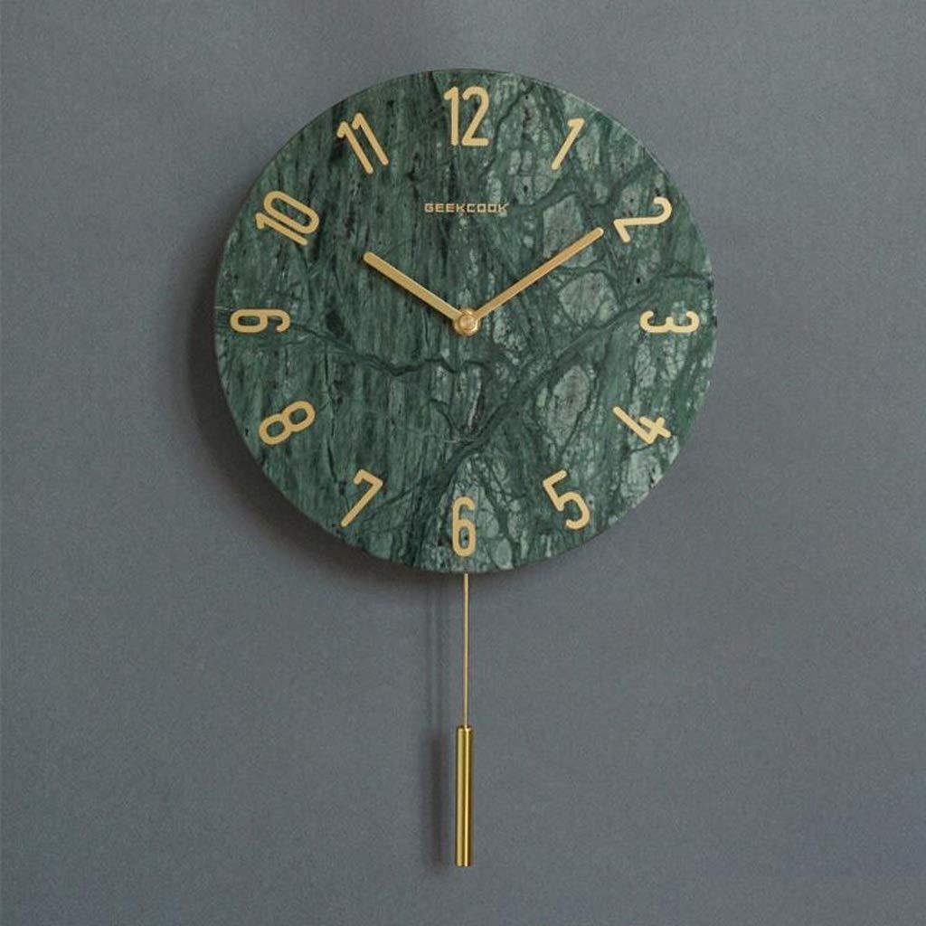 ノルディック大理石の壁時計10インチのクォーツ時計のベッドルームのホームクロックリビングルーム現代の静かな振り子時計 JSFQ (Color : B) B07TSZH6H2 B