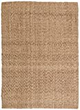 Stone & Beam Contemporary Textured Jute Rug, 5' x 7', Tan
