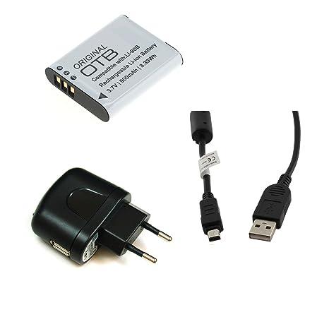 BG de akku24 Cargador, batería y cable de carga, cable de datos, cable USB para Olympus TG-1, TG-2, TG de 3, 4 de TG, SH de 1, SH de 2, SH de 50, 60 ...