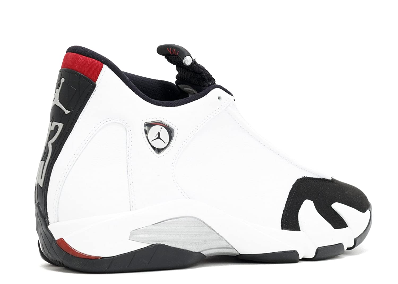 9f9b4f46122 Amazon.com | Jordan Air 14 Retro Men's Shoes White/Black-Varsity Red-Metallic  Silver 487471-102 | Basketball