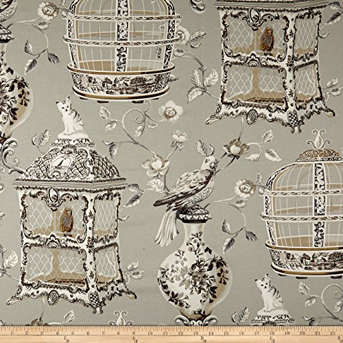 (WAVERLY Objet D'Art Twill Sterling Fabric by The)