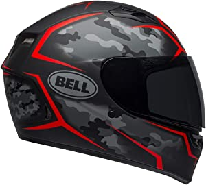 Bell Qualifier Full-Face Motorcycle Helmet (Stealth Camo Matte Black/Red, X-Large)