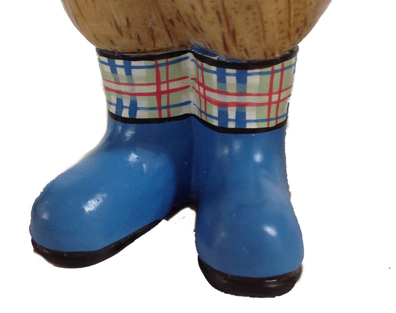 Medium Natural Welly Duckling Dcuk The Duck Company Tartan Blue Boots
