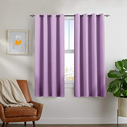 Blackout Curtains For Kids Room Darkening Window Curtain Panels For Living  Room 63 Inches Long Light