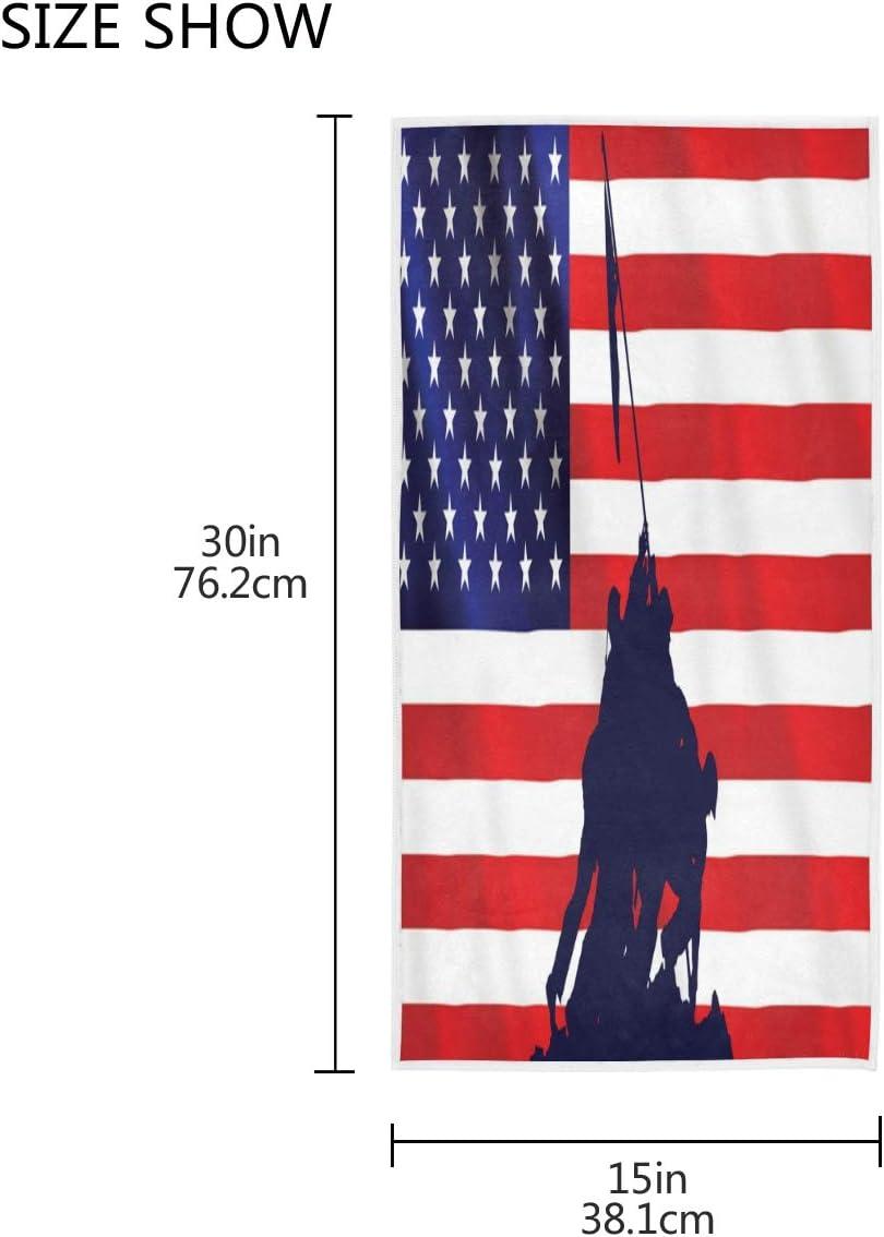 de algod/ón 30 x 15 pulgadas para decoraci/ón de ba/ño Toalla de mano con bandera estadounidense MNSRUU Iwo Jima