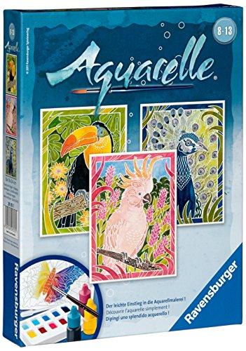 Ravensburger 29313 -Juego de pintura a la acuarela diseño 'Aves exóticas', 18 x 24 cm [Importado de Alemania]