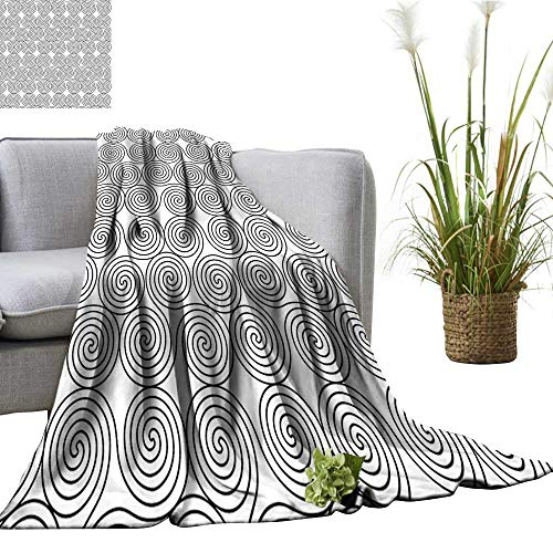 YOYI Baby Blanket Vintage Constant Triple Spiral Celtic Pattern with Rotational Symmetric Lines Boho B Indoor/Outdoor, Comfortable for All Seasons 30