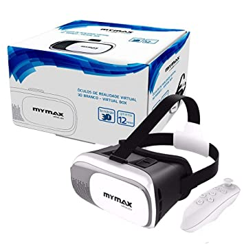 Óculos de Realidade Virtual 3D V-Box Branco - Mymax  Amazon.com.br ... 65b50fa614