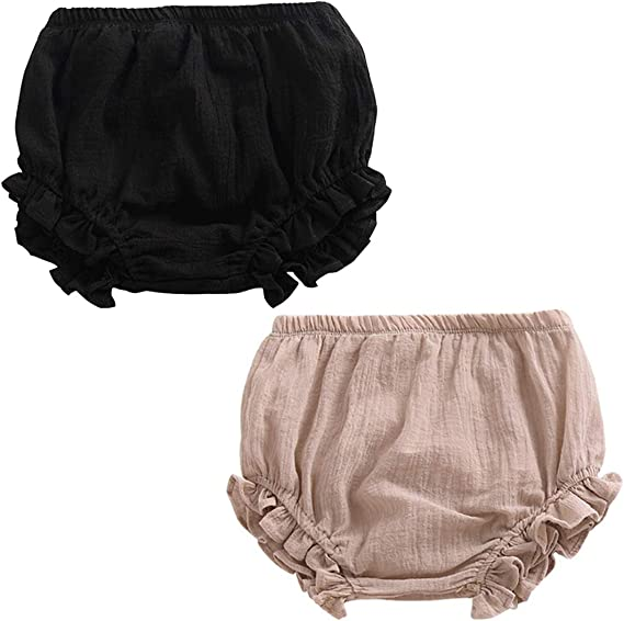 Newborn Toddler Baby Girls Boy Kids Cotton Linen Bloomer Shorts Diaper Cover
